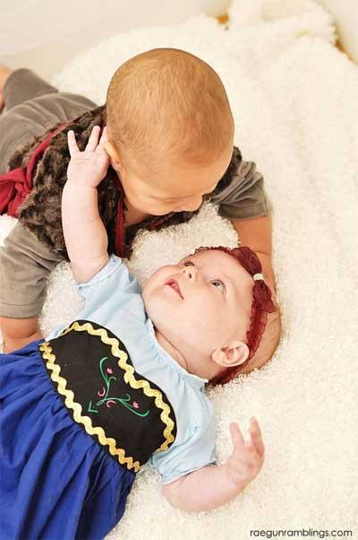 アナと雪の女王 ハロウィン 赤ちゃんコーデ