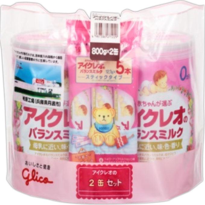 アイクレオ バランスミルク 800g 2缶 セット